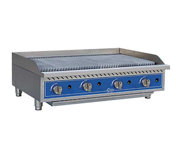 Globe Gas Charbroiler Radiant Countertop - GCB48G-CR