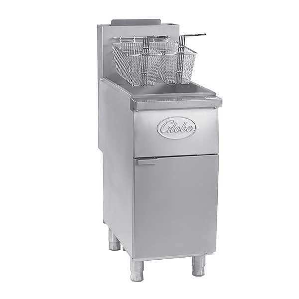 Globe Floor Fryer Natural Gas 35 Lbs. Oil Capacity - GFF35G