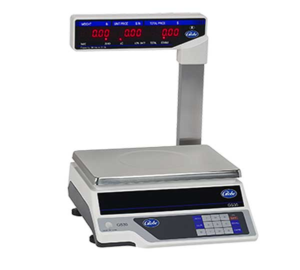 Globe Price Computing Scale with Display Tower Automatic Entry Tare 30 Lbs. X .01 Lbs. . Graduation - GS30T