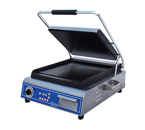 Globe Sandwich/Panini Grill Single Countertop - GSG14D
