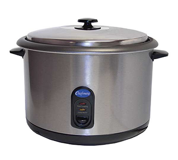 Globe Chefmate Rice Cooker Countertop Cooks Up To (25) One-cup Servings - RC1