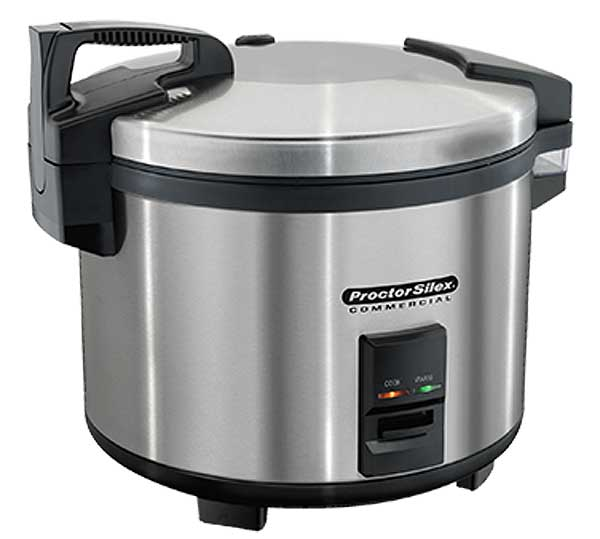 Hamilton-Beach Proctor-Silex Commercial Rice Cooker/Warmer 60 Cup Cooked (14 Liter) Capacity - 37560R