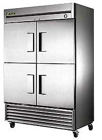 True T-49F-4 Stainless Steel Half Door Freezer