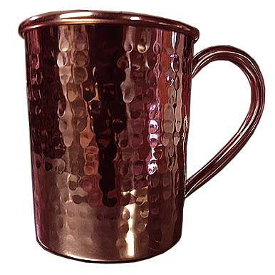 Hammered Solid Copper Mug, 16 Ounce - HMM16-L