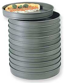 American Metalcraft Hard Coat Self Stacking Pizza Pans