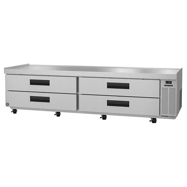 "Hoshizaki Steelheart Series Refrigerated Low-Profile Equipment Stand Two-section 98""W X 33-1/4""D X 26""H - CR98A"