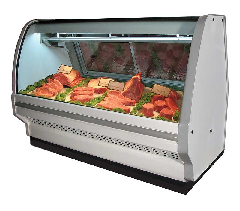 Howard McCray CMS40 Curved Glass Butcher Shop Cases