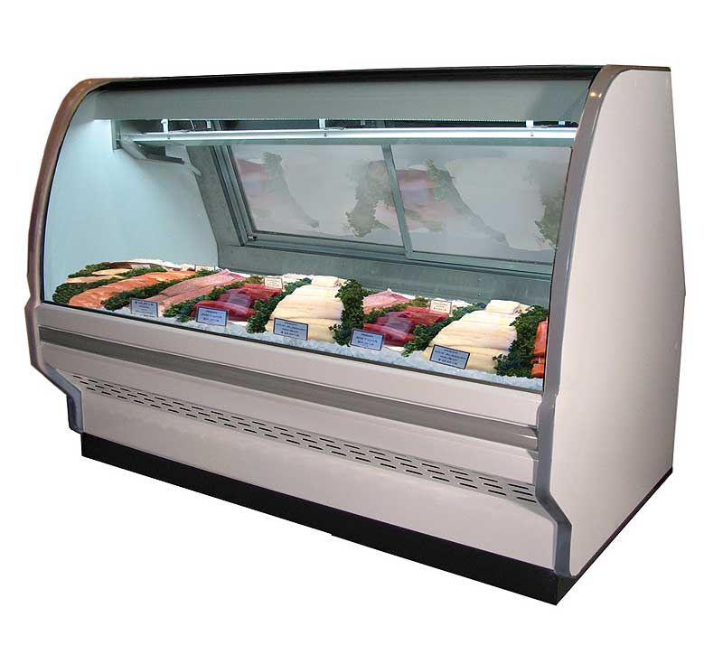 Howard McCray CFS40E Fish and Poultry Curved Glass Display Cases