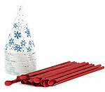 Snow Cone Cups and Spoon Straws - Pack of 25