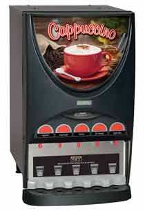 Bunn iMix Cappuccino Dispenser with 5 Hoppers
