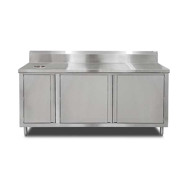 "John Boos Beverage Unit Cabinet Base With Hinged Doors On Front 72""W X 36""D X 40-3/4""H Overall Size - 4BU4R5-3672-R-X"