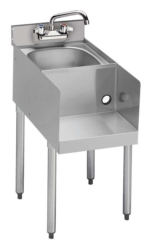 "Krowne Standard 1800 Series Underbar Blender/Dump Sink Station Freestanding 18""W X 22-1/2""D (to Match Speedrail Depth) - 18-18BD"