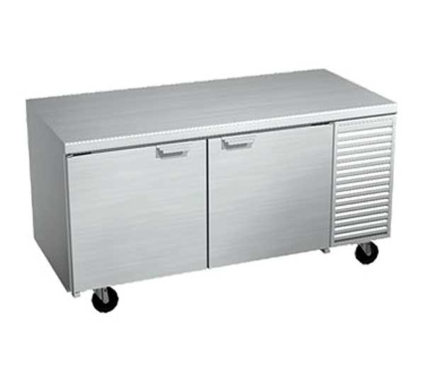LaRosa Refrigerated Work Table Two-section With Doors Self-contained – 2067-ST