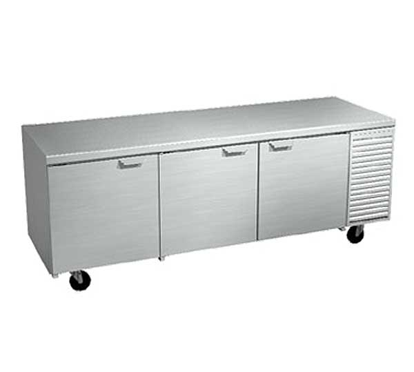 LaRosa Refrigerated Work Table Three-section With Doors Self-contained – 2093-ST