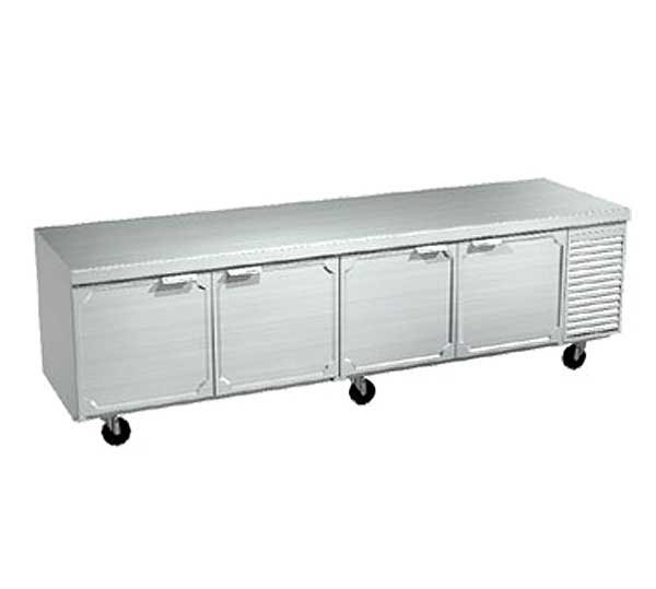 LaRosa Refrigerated Work Table Four-section With Doors Self-contained – 2510-ST