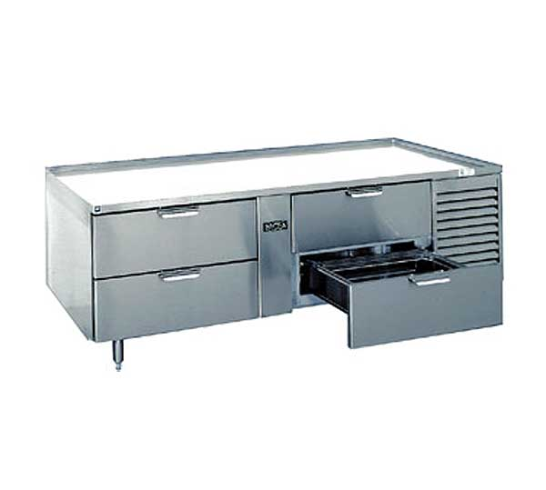 LaRosa Refrigerated Equipment Stand Two-section With Drawers Self-contained – 3076-SR