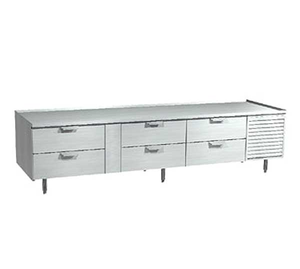 LaRosa Refrigerated Equipment Stand Three-section With Drawers Self-contained - 3002-SR