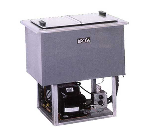 LaRosa Drop-In Ice Cream/Plate Chiller (2) 3-gallon Can Capacity (1) Hinged Solid Lid – 5020