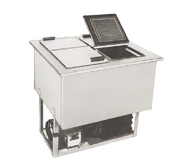 LaRosa Drop-In Ice Cream/Plate Chiller (4) 3-gallon Can Capacity (2) Hinged Solid Lids – 5040
