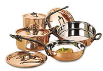 Gourmet Copper 8 Piece Pot and Pan Set