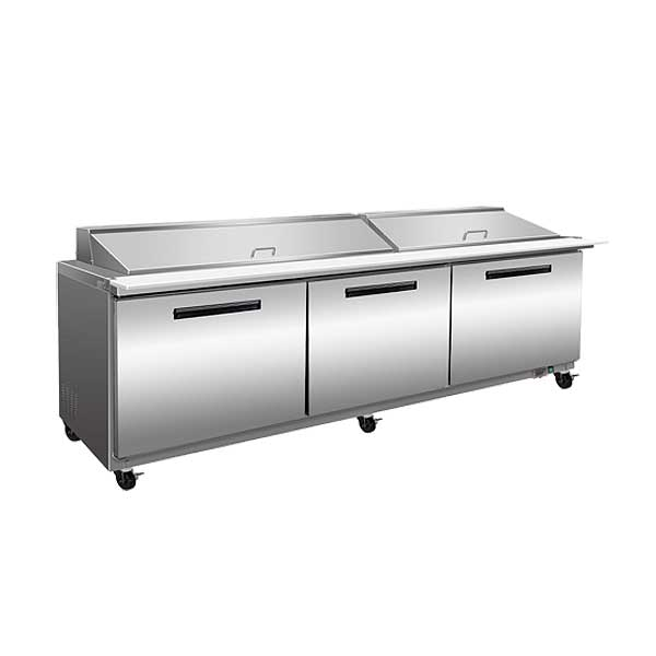 "Maxx Cold X-Series 72"" Megatop Sandwich & Salad Station 18.0 Cu. Ft. Storage Capacity Three-section - MXCR72M"