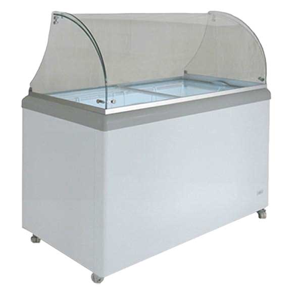 MaxxCold Maxx Cold X-Series Ice Cream Dipping Cabinet with Glass Canopy Mobile 7.5 Cu. Ft. - MXDC-4