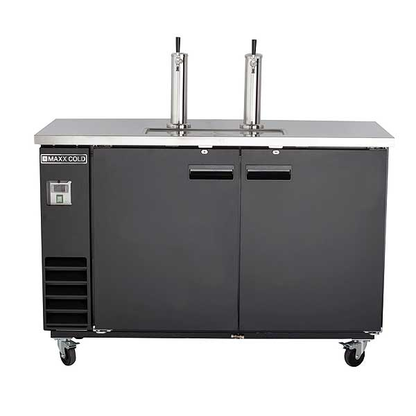 MaxxCold Maxx Cold X-Series Keg Cooler with Dual Towers Two-section Self-contained - MXBD60-2BHC