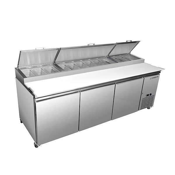 "Maxx Cold Select Series Refrigerated Pizza Prep Table Three-section 94""W - MXSPP92"