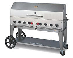 Crown Verity Outdoor BBQ / Portable Radiant Charbroiler Grill with Optional Domed Lid