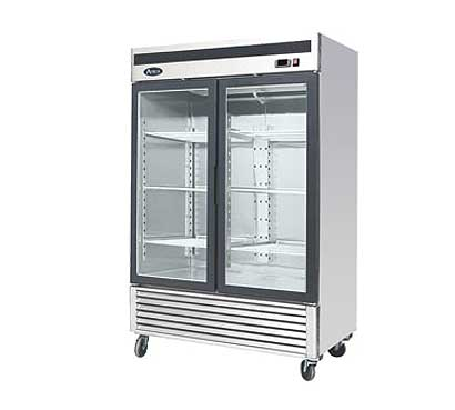 Atosa Glass Door Refrigerator, 2 Doors, 47.1 Cu. Ft. Capacity - MCF8707