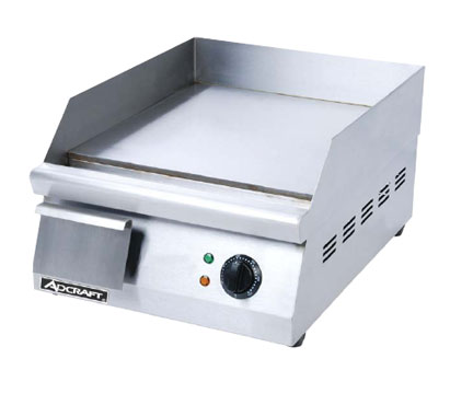Adcraft Electric Countertop Flat Griddle, 16 Inch - GRID-16