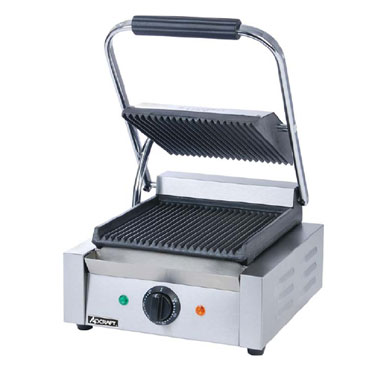 Adcraft Sandwich Grill, 8 Inch Ribbed Grill Surface - SG-811