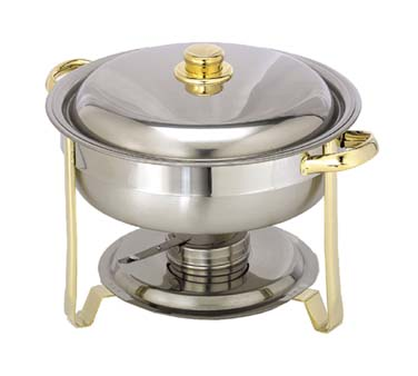 Admiral Craft Gold Royale Chafer, Round - GRY-4