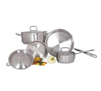 Induction Ready 7 Piece Deluxe Stainless Steel Cookware Set - SXS-7PC