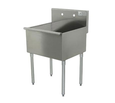 Advance Tabco Sq. Corner Sink one Cmpt. - 6-81-18