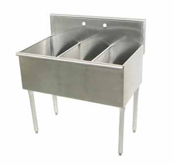 Advance Tabco Sq. Corner Sink 3 Cmpt. - 4-43-72