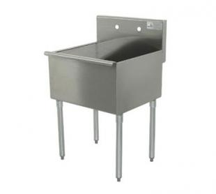 Advance Tabco Sq. Corner Sink one Cmpt. - 6-41-36