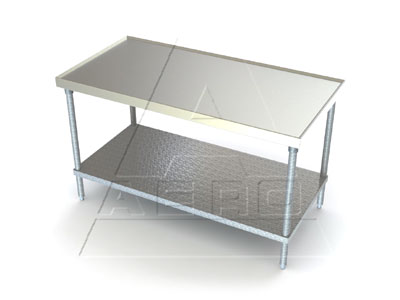 Aerospec 1TG Stainless Tables with Galvanized Shelves