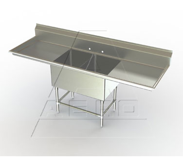 Aerospec 2F2 Two Bowl Sinks with Two Drainboards