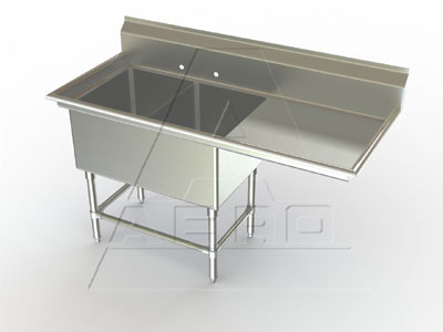 Aerospec 2F2 Sinks 2 Bowls Right Drainboard