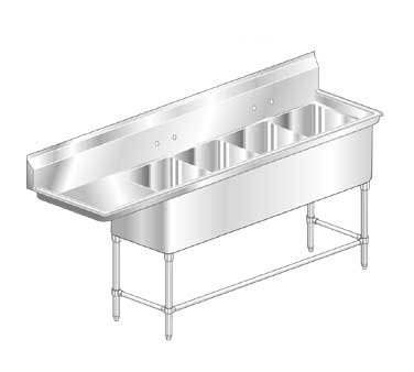 AERO Mfg. Aerospec Sink 4-bowl - 2F4-2424-30L