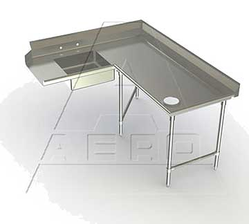 AERO Mfg. Aerospec Dishtable soiled - 2SDC-R-60