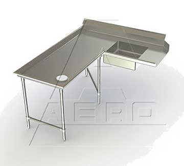 AERO Mfg. Aerospec Dishtable soiled - 2SDI-L-96