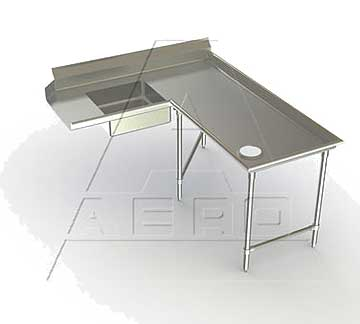 AERO Mfg. Aerospec Dishtable soiled - 2SDI-R-84