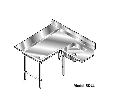 AERO Mfg. Aerospec Dishtable soiled - 2SDL-L-96