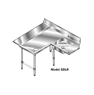 AERO Mfg. Aerospec Dishtable soiled - 2SDL-R-48