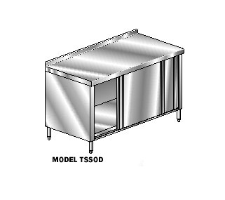 AERO Mfg. DeluxeWork Table cabinet base with sliding doors - 3TSSOD-2484