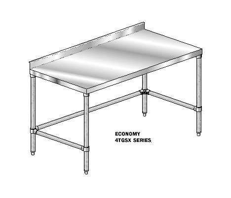 "AERO Mfg. DeluxeWork Table 24"" - 3TGSX-24144"