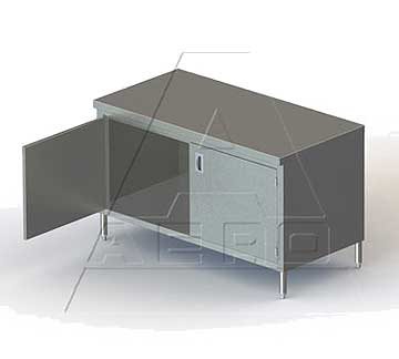 Aero Work Table cabinet base with hinged doors - 4TSOHD-3084
