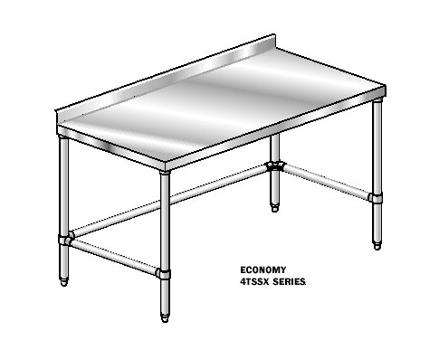 "AERO Mfg. DeluxeWork Table 24"" - 3TSSX-24144"